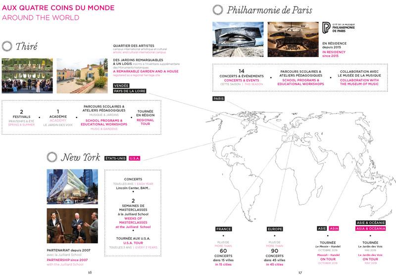 carte 2019 Les Arts Florissants around the world