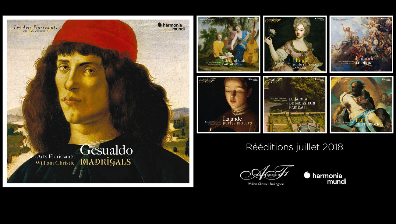 Harmonia Mundi deeditions Arts Florissants Juillet 2018