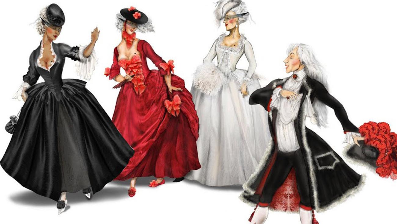 Costumes Fêtes vénitiennes - p reinhardt