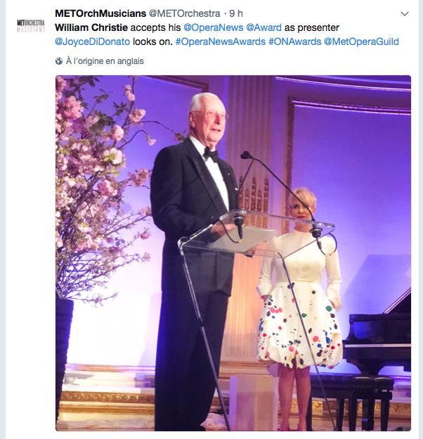 Opera News Award William Christie 2018